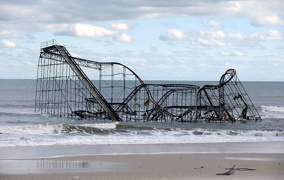 Huracán Sandy Seaside Heights Nueva Jersey hurricane